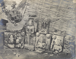 Miscellaneous sculptures and fragments from the brick temple, Rajapodor